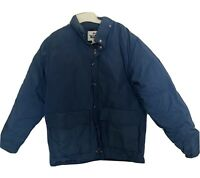 Vintage Woolrich Down Jacket Coat LARGE Puff Navy Blue