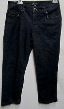 AK ANNE KLEIN crop capri dark denim jeans/pants 6 Waist 32 measured tag says 27R