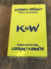 Vintage Kirby & West Your Local Dairy Leicester Playing Cards Sealed NOS