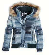 NWT American Eagle AEO Women (Size: S, Last one) Down Hooded Puffer Jacket Blue