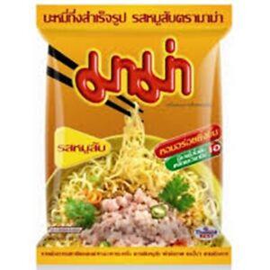 MAMA Instant Thai Noodles Minced Pork Chops Flavor Soup Food 55g/10p.