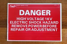 Ghostbusters - Motherboard Danger Label By Mack's Factory - (GBVL-100-1)