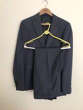 Próxima sastrería 38R traje blazer y pantalones de Poliéster Azul Marino Skinny Fit 32s