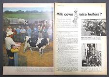 1959 Dairy Feed Ad Photo Endorsement by Sylvester Francisco of Calhoun Cty Mich
