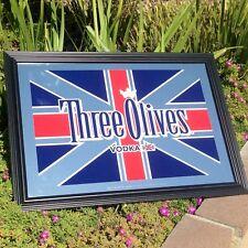 Three Olive Vodka Beer Bar Pub Mirror Man Cave Sign