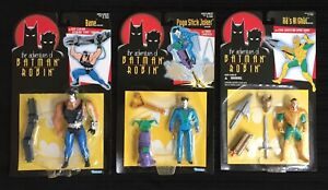 X3 1995 Kenner Adventures of Batman and Robin Figures Joker Bane Ras Al Ghul MIP