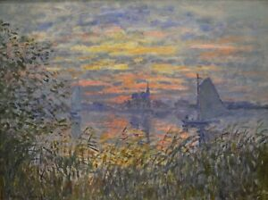 MARINE VIEW WITH A SUNSET by Claude Monet - Matt, Glossy, Canvas Paper A4 or A3