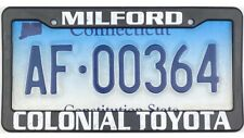 *99 Cent Sale* 2015 Connecticut License Plate #Af-00364 With Toyota Frame Nr