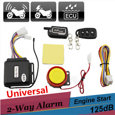 2-Way Motorcycle Alarm Security System Full Function Remote Control Engine Start