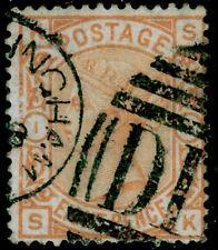 SG156, 8d orange, USED. Cat £350. SK