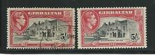 Gibraltar: Scott 116 hinged perforation 13, 116a used perforation 14. GI11&