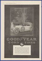 Vintage 1917 GOODYEAR Cord Tires Garage Gas Station Art Decor Ephemera Print Ad
