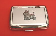 Scottish Terrier Motif Tobacco Tin Box Man's Gift Pet Vet Scottish Terrier Gift