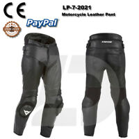 BLACK MOTOGP MOTORCYCLE MOTORBIKE COWHIDE LEATHER BIKERS RACING  PANT