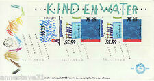 A LOVELY NETHERLANDS FDC 1988 WITH MINI SHEET KIND EN WATER