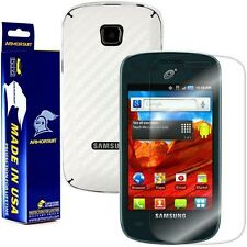 ArmorSuit MilitaryShield Samsung Galaxy Proclaim Screen + White Carbon Fiber