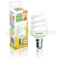 Low Energy Saving Light Bulbs Spiral Screw Bayonet E14 E27 BC 9W = 40W 11W = 60W