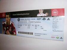 used ticket DENMARK - PORTUGAL 11.10.2011