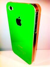 cover rigida Iphone 4 4S colore verde scuro lato  trasparente NEW COLOR