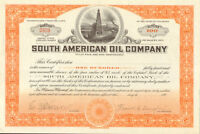 South American Oil Company > 1920s stock certificate 100 shares