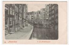 O Z Achterburgwal Amsterdam Netherlands 1905c postcard