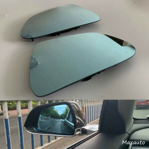 Pair Outside Rearview Mirror Glass LH RH Bright Fit For 2017-2020 Tesla Model 3