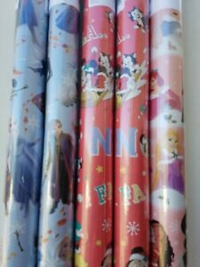 Christmas Wrapping Paper, Frozen, Disney princesses, Mickey and Minnie, 100 sqft