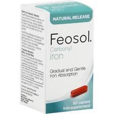 FEOSOL Carbonyl Iron Supplement, 60 Caplets, Expires July 2018