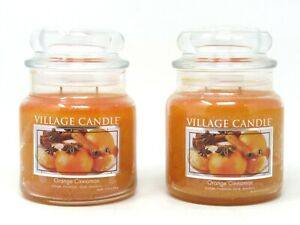 Small Village Candle Red Hot Cinnamon 11 oz Glass Jar Scented Candle