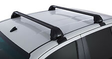 Rhino Pair of VORTEX RS Roof Racks for Hilux 4dr Ute Dual Cab 2005 On Black
