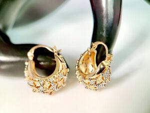 SALE 9ct 9K Gold Filled Ladies Prom 20-26mm Hoop Earrings Xmas Birthday Gift