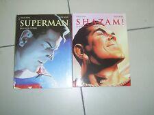 lot de 2 BD superman et shazam  de paul Dini et alex ross comme neuf
