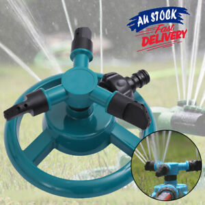 360° Rotating Automatic Water Sprinkler Garden Sprayer Watering Grass Lawn Tool
