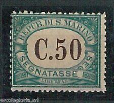 60730 - SAN MARINO  - Sassone SEGNATASSE 4b nuovo non linguellato GOMMATO