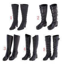 1//6 Skala Frauen Schwarz Lange Stiefel Schuhe Für 12 /'/' Phicen Action Figure