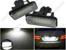 2pcs White LED License Plate Light For Benz W203 5D Wagon W211 W219 Error Free