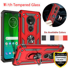 For Moto T-Mobile Revvlry Plus Case Shockproof Magnetic Ring Stand Rugged Cover