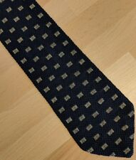 Gents Italian knitted tie blue patterned by M&S