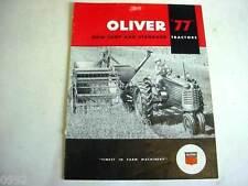 Oliver 77 Tractor Sales Brochure                                 b3