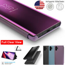 Fr Samsung Galaxy S20 Ultra Note 10+ Smart Clear Mirror Leather Stand Case Cover