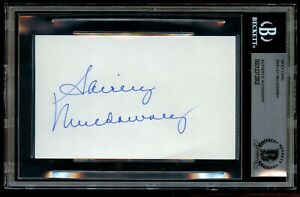 Shirley Muldowney signed autograph 3x5 index card First Lady of Drag Racing BAS