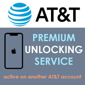 AT&T iPhone 11 6 7 8 X XR XS Active Account / Active Line Factory Unlock Service