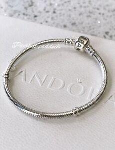 Authentic Pandora Standard Charm Bracelet W/ Gift Box 6.3 Inches Child Small