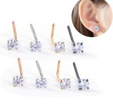 Nose Ring Stud Curved Bar 2mm 3mm - Steel Ear Cartilage Tragus Earring Piercing
