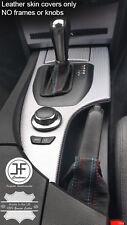 TOP GRAIN LEATHER M STITCH AUTOMATIC GEAR HANDBRAKE GAITER FOR BMW E60 E61 03-07
