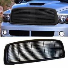 02-05 Dodge Ram 1500 2500 3500 Matte Black Billet Front Hood Bumper Grill Grille