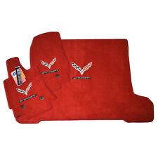 2014-2018 Corvette C7 Stingray Floor Mats & Cargo Mat - Coupe - Adrenaline Red