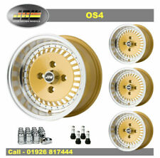7x13 JBW OS4 Wheels Classic Ford Set of 4 Gold + 175/50x13 Nankang AS-1 Tyres