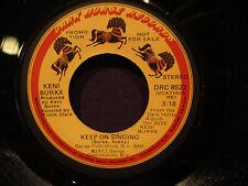 Keni Burke 'Keep ON  Singing' EX   Promo MONO/Stereo
