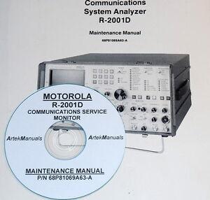 MOTOROLA R-2001D Service Analyzer Maintenance Manual